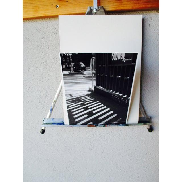 Folding Easel & Original NYC Subway Photograph - Image 5 of 11