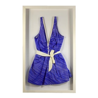 Framed Vintage Blue Swim Suit