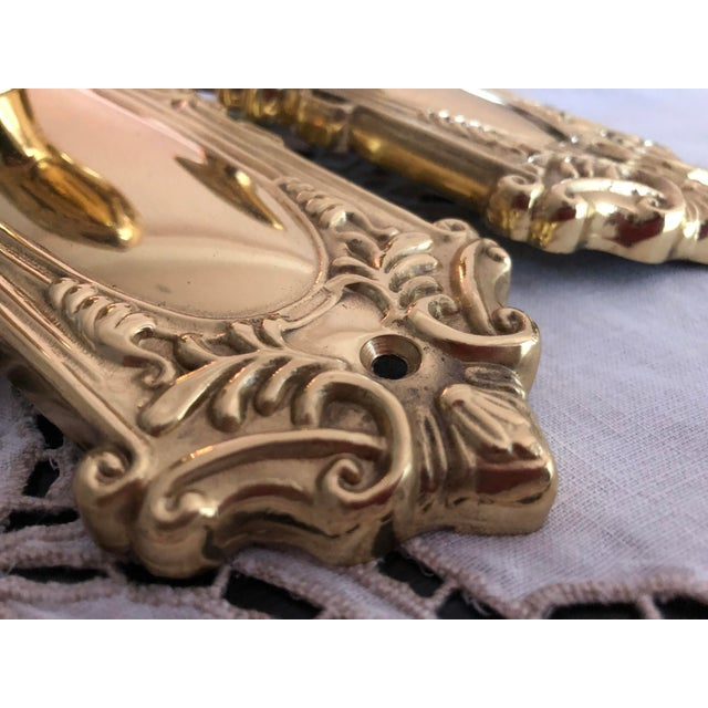 Emtek Designer Side Plates Polished Brass Doorknob Set For Sale In San Francisco - Image 6 of 11