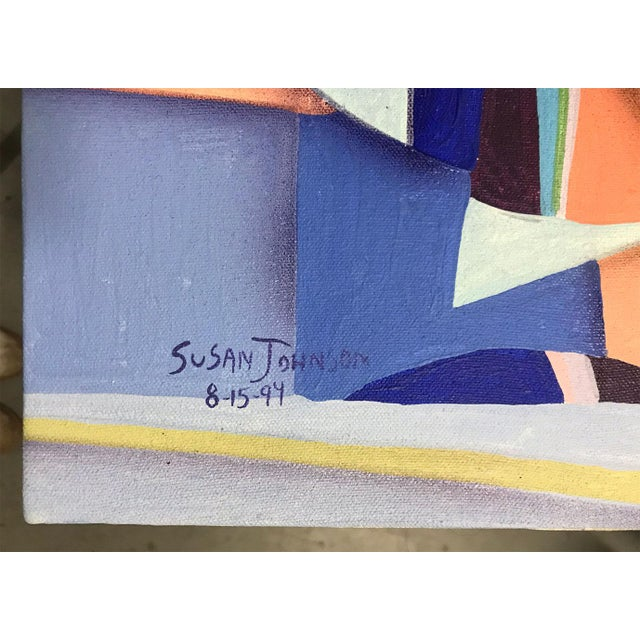 1994 Abstract Geometric Painting by Susan Johnson For Sale In Atlanta - Image 6 of 10