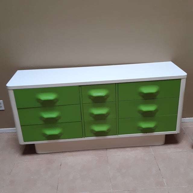 Space Age Modern Series Chaster Dresser Set by Broyhill Premier-a Pair For Sale - Image 4 of 13