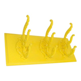 Bright Yellow Coat Hook Hanging