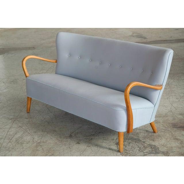 1940s Danish Sofa With Open Armrests by Alfred Christensen for Slagelse For Sale - Image 9 of 9