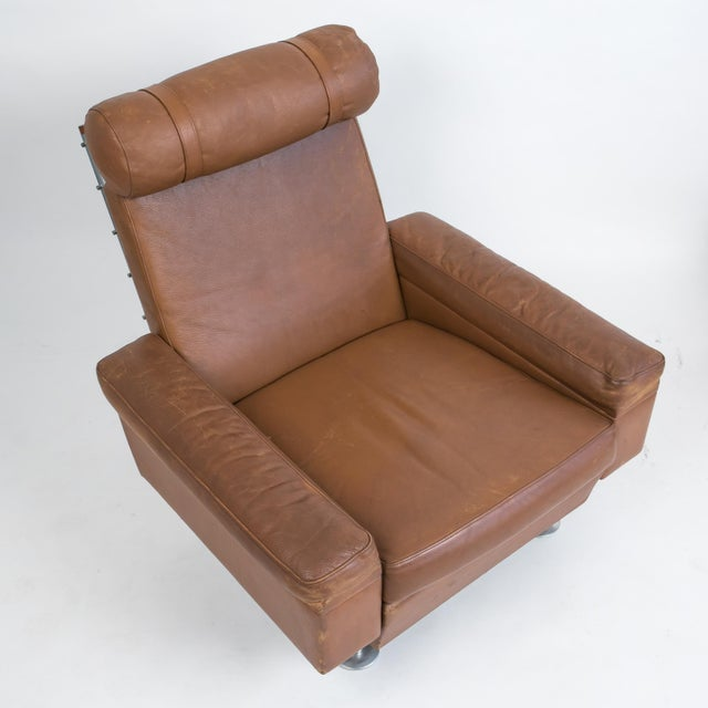 Pair of Illum Wikkelsø High-Backed Lounge Chairs for Ryesberg Møbler For Sale In Los Angeles - Image 6 of 7