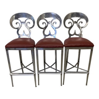 O'Brien Ironworks Biedermeier Bar Stools - Set/3 For Sale
