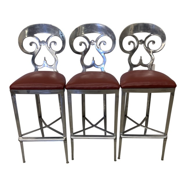 O'Brien Ironworks Biedermeier Bar Stools - Set/3 For Sale
