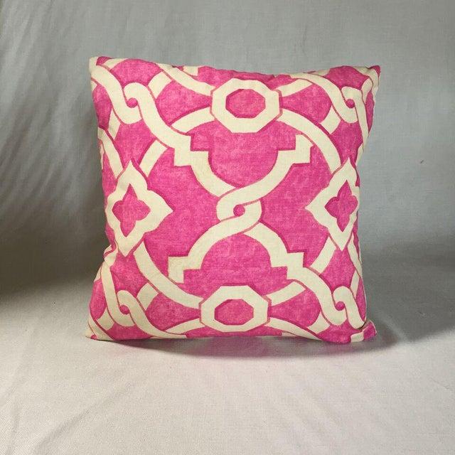 Contemporary Kim Salmela Pink Geometric Pillow For Sale - Image 3 of 3