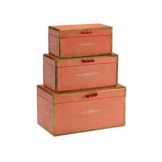 Wildwood Cousteau Coral Boxes - Set of 3 For Sale