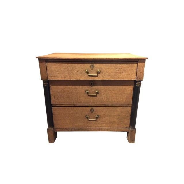 19th Century French Empire Three Drawer Chest For Sale