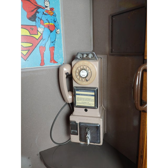 1950s Wooden Telephone Booth W/Original Working Pay Dial Phone For Sale In Los Angeles - Image 6 of 12
