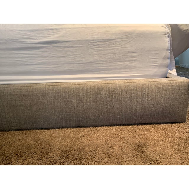 Textile Room and Board Marlo California King Grey Cement Bed Frame For Sale - Image 7 of 9