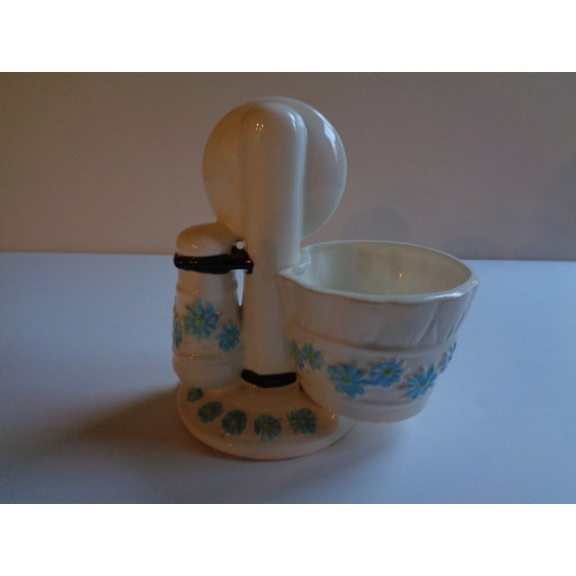 Cottage Mid-Century Ceramic Telephone Pencil Cup For Sale - Image 3 of 6
