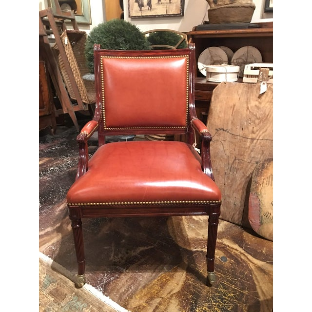 Traditional Theodore Alexander Regency Style Game Chair For Sale - Image 3 of 13