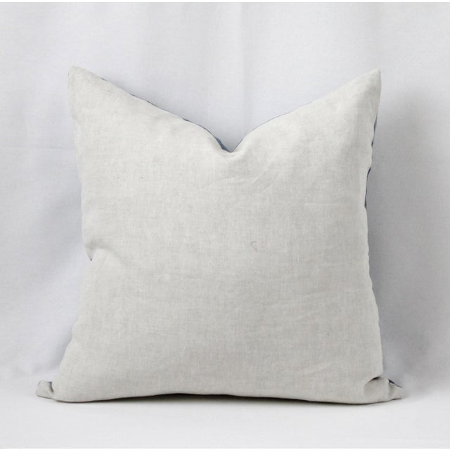 Vintage Blue Distressed Denim Pillow For Sale - Image 9 of 10