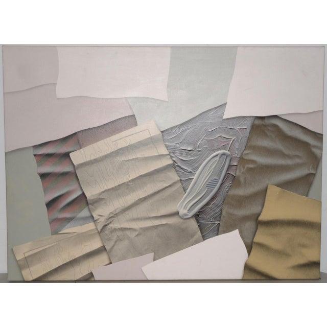 "William DeKoornbolt ""Wonton Malice"" Original Mixed Media Abstract Painting C.1981 For Sale - Image 11 of 11"