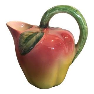Vintage Italian Apple Fresh Fruit Pitcher For Sale