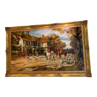 Paul Roberts Original Hunt Scene Painting For Sale