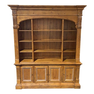 Ethan Allen Knotty Pine Wall Unit For Sale