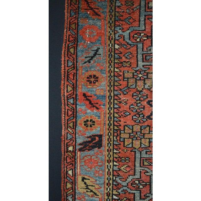 "Antique Persian Karaja Rug - 3'1"" x 4'3"" For Sale - Image 5 of 11"