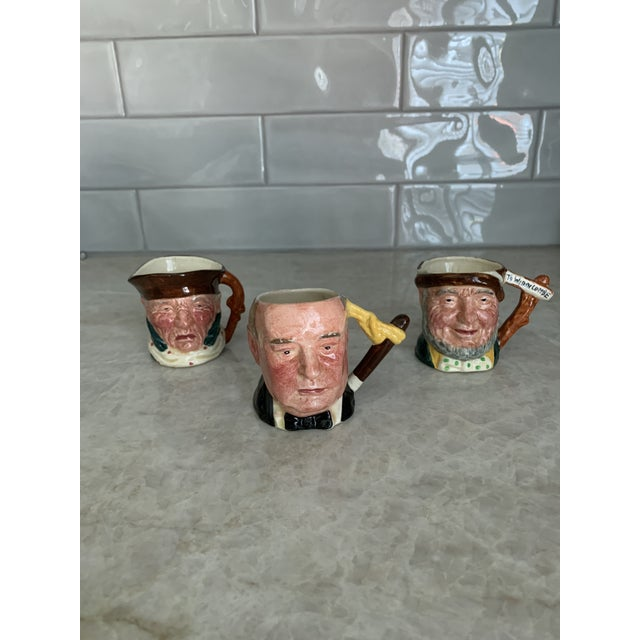 Ceramic Antique Small Toby Character Jugs - Set of 3 For Sale - Image 7 of 7