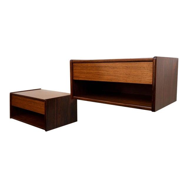 Vintage Danish Modern Rosewood Floating Shelves, Pair C. 1960's For Sale