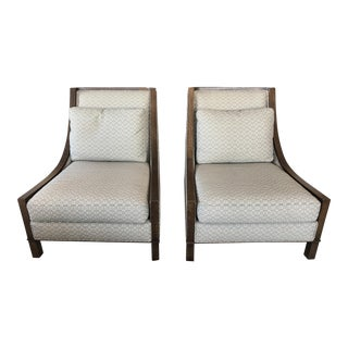 Barbara Barry for Baker Lounge Chairs - a Pair