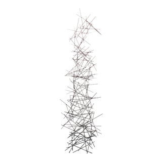 Contemporary Metal Tower Floor Sculpture For Sale