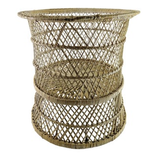 20th Century Boho Chic Woven Plant Stand For Sale