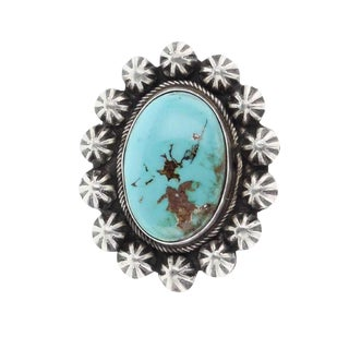 1980s Vintage Boyd Ashley Royston Turquoise Large Star Drop Ring For Sale