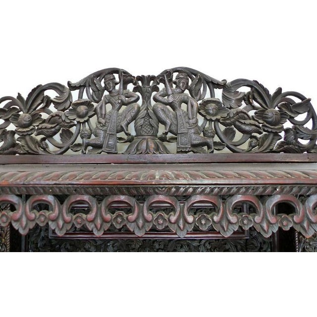 Anglo-Indian 19th Century Burmese Over-Scale Carved Rosewood Anglo-Indian Sideboard For Sale - Image 3 of 11