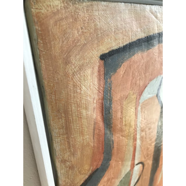 "Mid 20th Century Rare! Gorgeous! 20th Century Abstract ""Two Figures"" Oil on Canvas Painting by Maurice Cloud For Sale - Image 5 of 8"