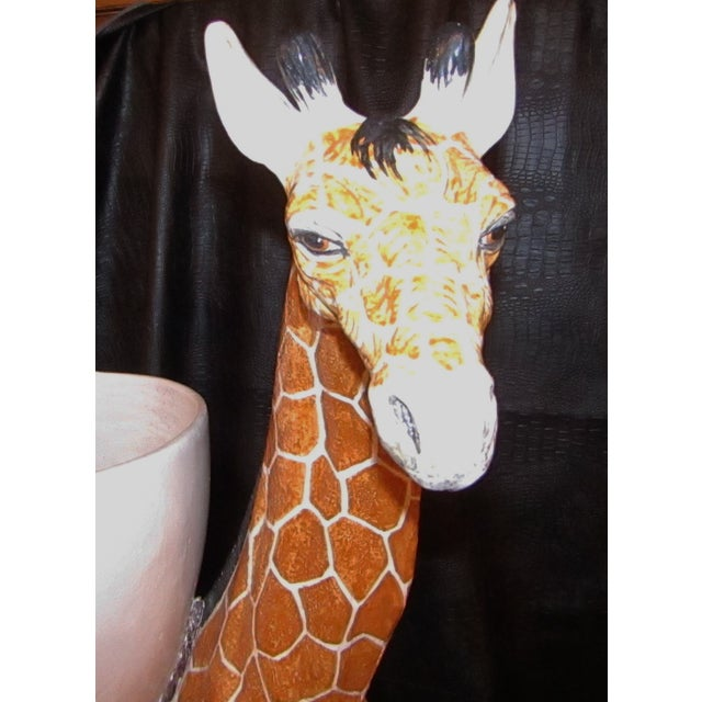 As will all great Italian ceramics, this piece is hand painted, full of character and in great condition. The giraffe...