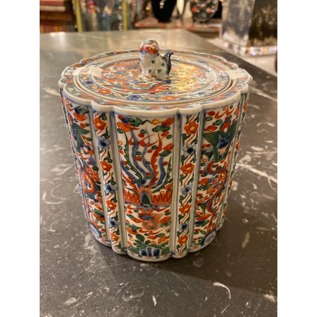 Wanli Wucai Chinese Export Lidded Box For Sale - Image 9 of 12