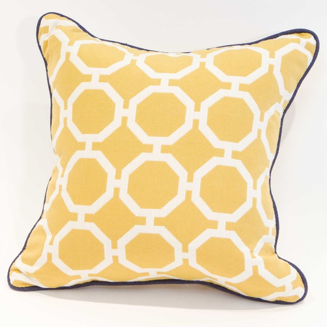 Yellow Geometric Pillows - A Pair - Image 5 of 6
