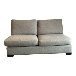 Room and Board Armless Modular Sectional Settee For Sale