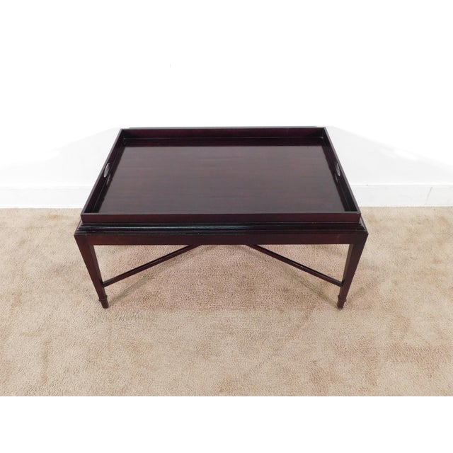 Wood Barbara Barry for Baker Furniture Company Java Finish Coffee Table For Sale - Image 7 of 10