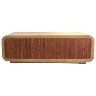1980s Oak and Rosewood Credenza by Steve Chase For Sale