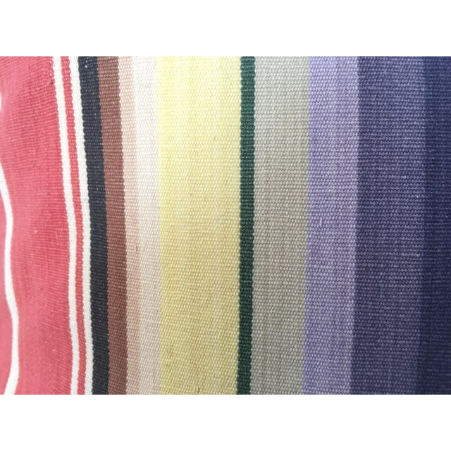 Awning Stripe Custom Pillows - A Pair For Sale - Image 5 of 6