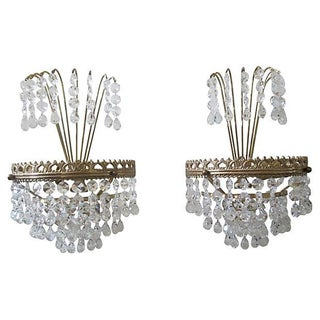 Chandelier Sconces - A Pair