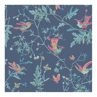 Cole & Son Hummingbirds Wallpaper Roll - Indigo Multi-Colour For Sale