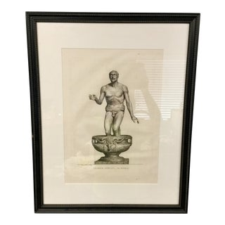 "Early 19th Century ""Pecheur Africain"" Framed Engraving Print"