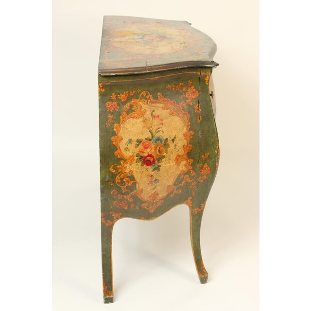 Louis XV Italian Louis XV Style Painted Commode For Sale - Image 3 of 12
