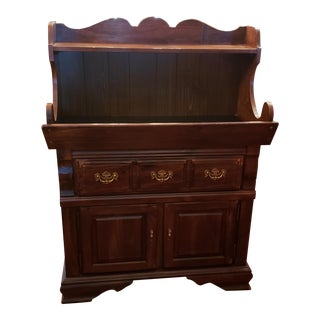 Vintage Solid Wood Dry Sink, Sideboard, Hutch, Buffet For Sale