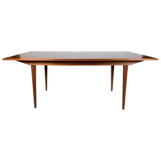1950s Mid-Century Modern George Nelson for Herman Miller Walnut Dining Table With Two Stored Leaves For Sale