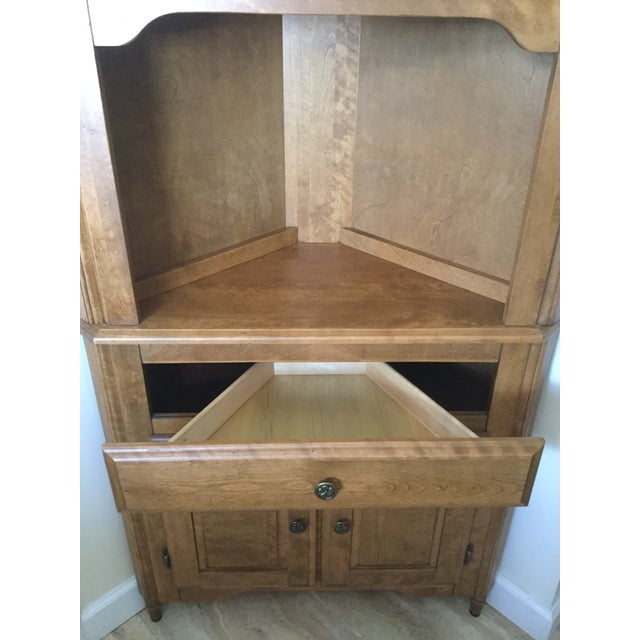 Corner Hutch/Buffet/China Cabinet - Handcrafted, Solid Birch - Image 8 of 10