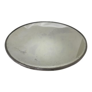 Antique Victorian Silverplate Plateau Stand Mirror For Sale