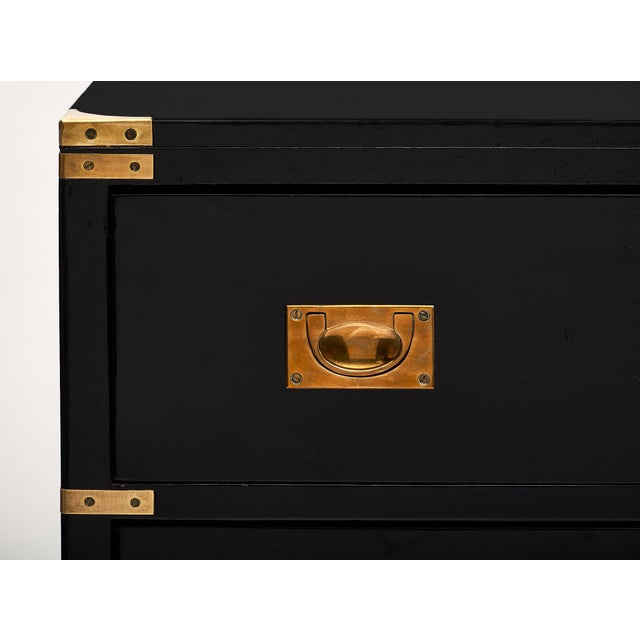 Gold English Antique Campaign Chest For Sale - Image 8 of 9