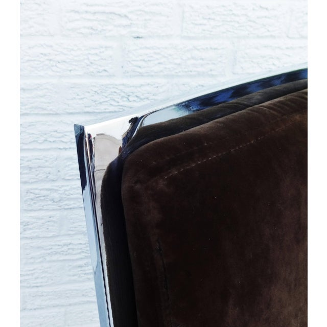Set of Six Chrome Dining Chairs by Dillingham in the Style of Milo Baughman For Sale - Image 9 of 10
