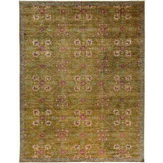 "Oushak Hand Knotted Area Rug - 9'4"" X 11'10"" For Sale"
