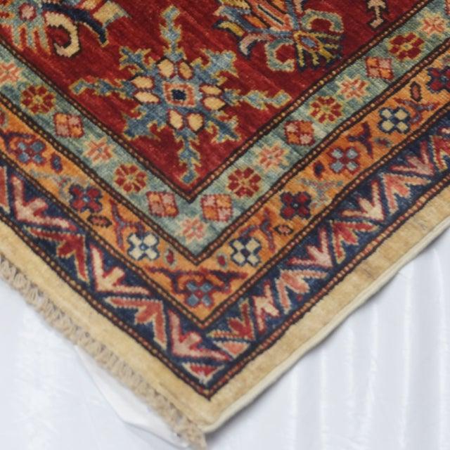 """Hand-Woven Wool Kazak Rug - 8' X 10'3"""" - Image 4 of 4"""